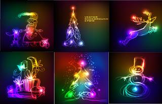 クリスマスの電飾飾り
