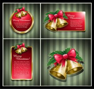 漫画タッチのクリスマス飾りと背景 beautiful christmas ornaments イラスト素材2
