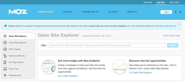 Open Site Explorer