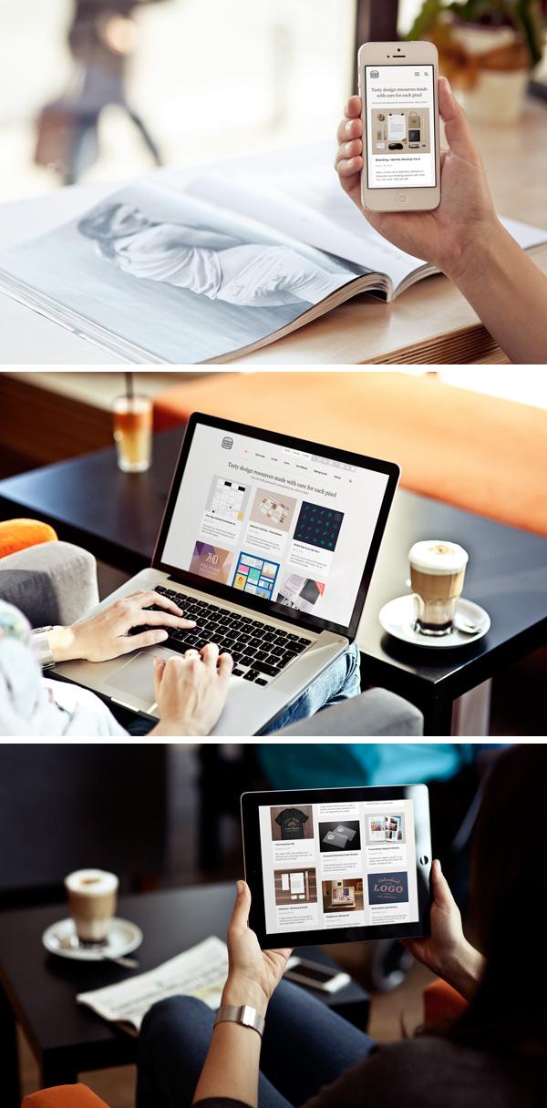 モックアップ画像 スマホ、PC、タブレット