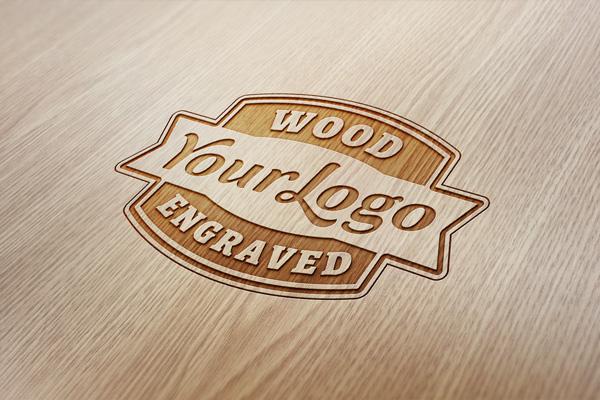 モックアップ 木材に焼き付け