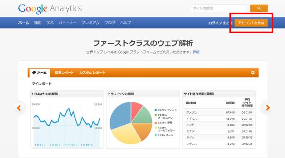 google anlytics設定方法
