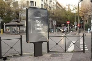 モックアップ画像 街頭ポスター