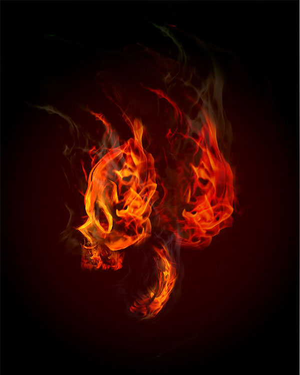 炎テクスチャで描く