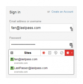 LastPassで簡単ログイン