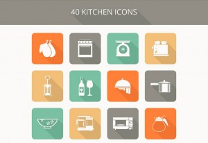 キッチンアイコン素材