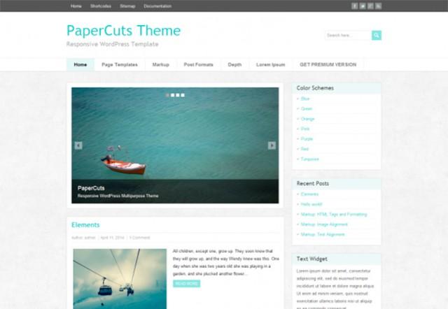 ワードプレステーマ:paper-cuts