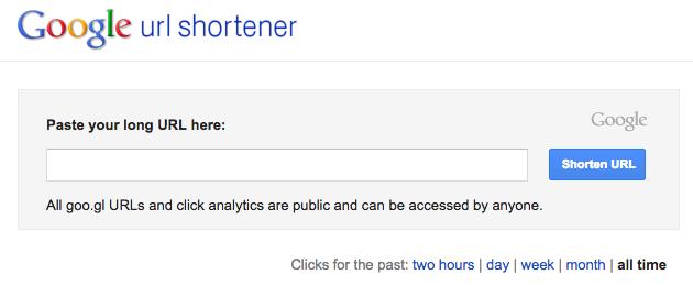 google URL shorter