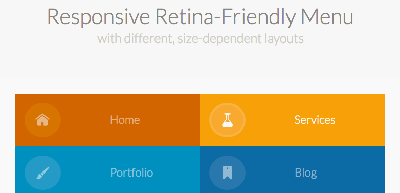 Responsive Retina-Friendly Menu