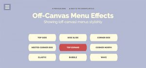 Off-Canvas Menu Effects