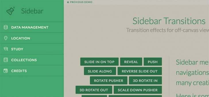Sidebar Transitions